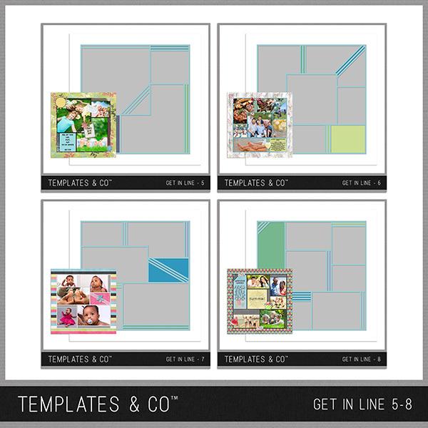 Get In Line 5-8 Digital Art - Digital Scrapbooking Kits