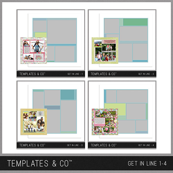 Get In Line 1-4 Digital Art - Digital Scrapbooking Kits
