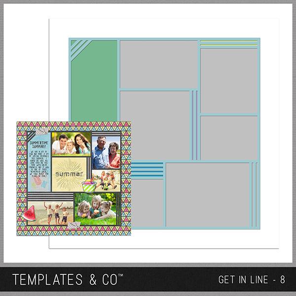 Get In Line - 8 Digital Art - Digital Scrapbooking Kits