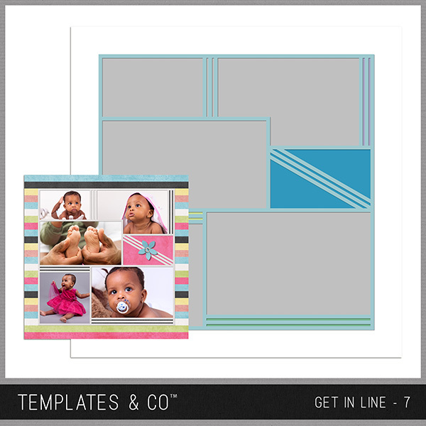 Get In Line - 7 Digital Art - Digital Scrapbooking Kits