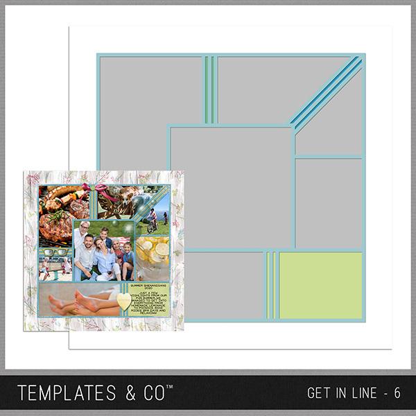 Get In Line - 6 Digital Art - Digital Scrapbooking Kits