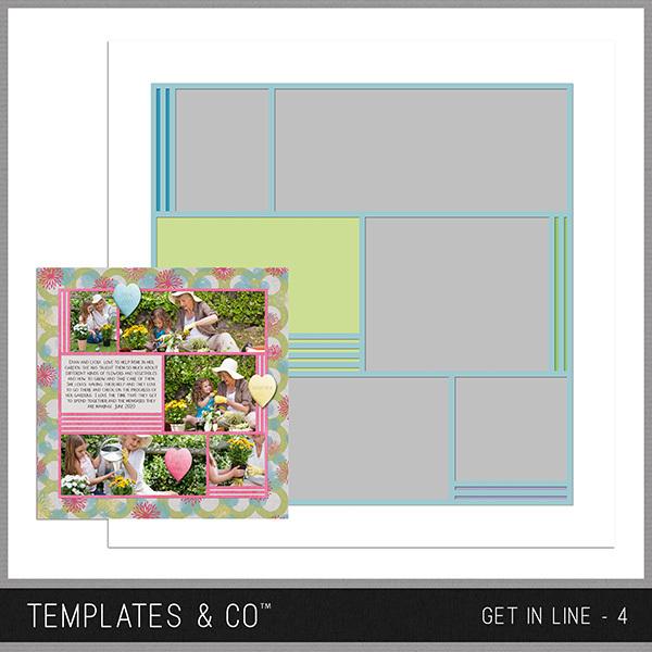 Get In Line - 4 Digital Art - Digital Scrapbooking Kits