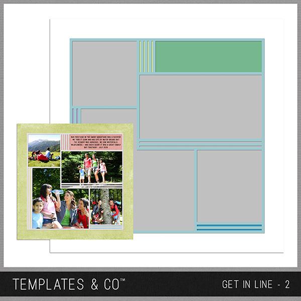 Get In Line - 2 Digital Art - Digital Scrapbooking Kits