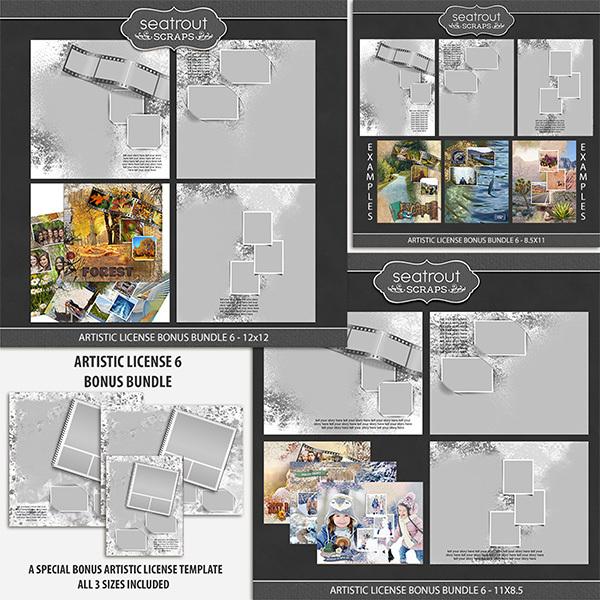 Artistic License Bonus Bundle 6 Digital Art - Digital Scrapbooking Kits