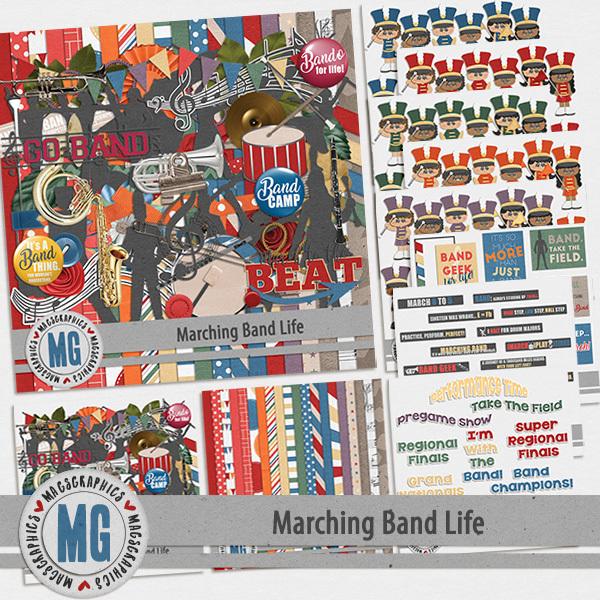 Marching Band Life Bundle Digital Art - Digital Scrapbooking Kits