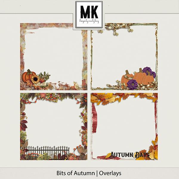 Bits of Autumn - Overlays Digital Art - Digital Scrapbooking Kits