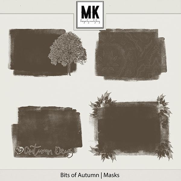 Bits of Autumn - Masks Digital Art - Digital Scrapbooking Kits