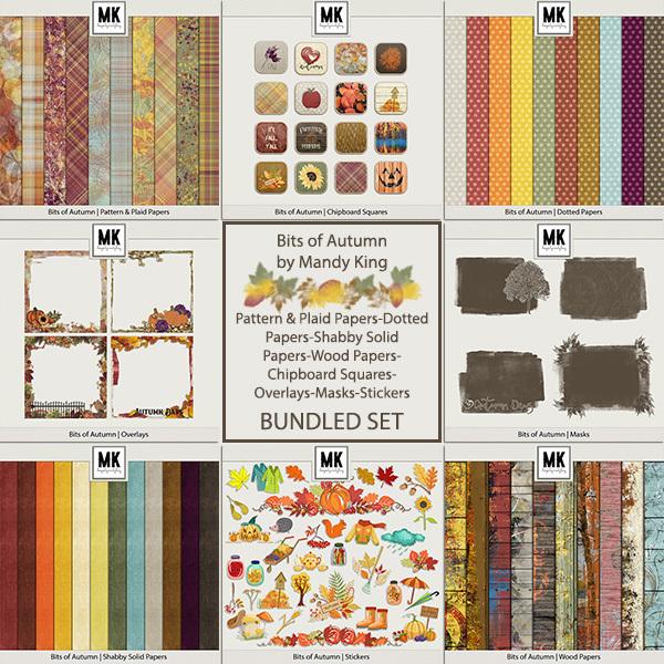 Bits of Autumn - Bundled Set Digital Art - Digital Scrapbooking Kits
