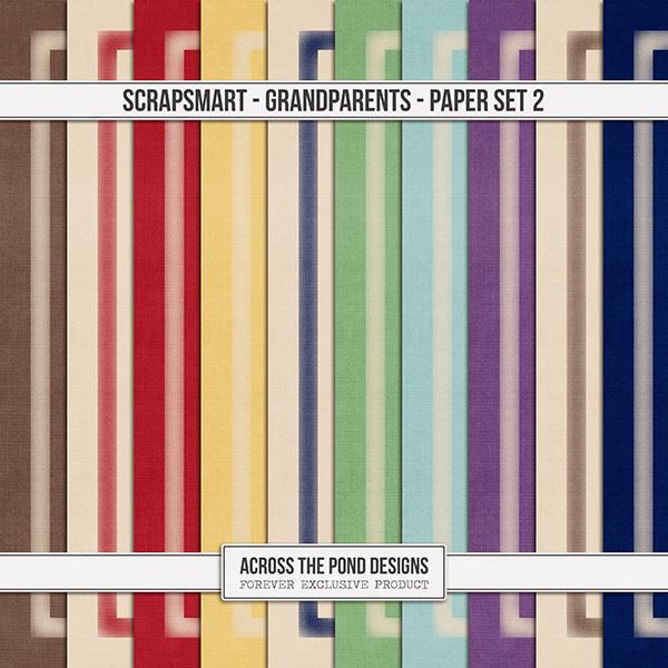 ScrapSmart - Grandparents - Paper Set 2 Digital Art - Digital Scrapbooking Kits