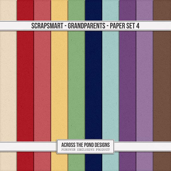 ScrapSmart - Grandparents - Paper Set 4 Digital Art - Digital Scrapbooking Kits