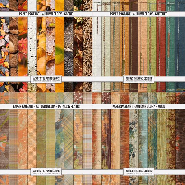 Paper Pageant - Autumn Glory Digital Art - Digital Scrapbooking Kits
