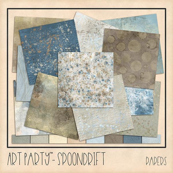 Spoondrift Papers Digital Art - Digital Scrapbooking Kits