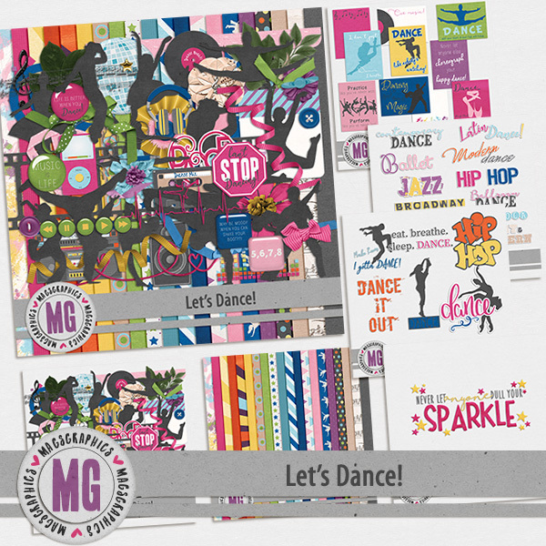 Let's Dance Bundle Digital Art - Digital Scrapbooking Kits