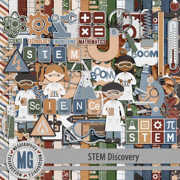 STEM Discovery Kit Digital Art - Digital Scrapbooking Kits