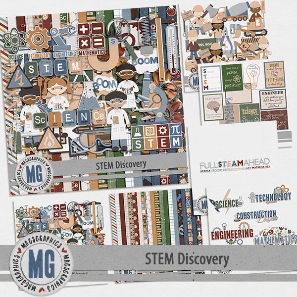 STEM Discovery Bundle Digital Art - Digital Scrapbooking Kits