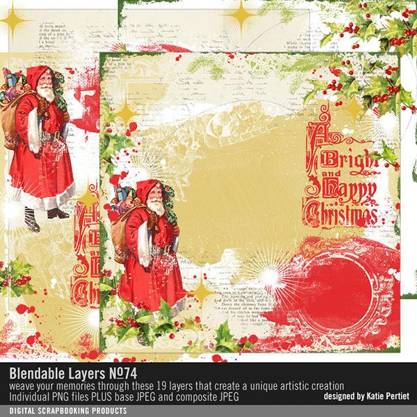 Blendable Layers 74 Digital Art - Digital Scrapbooking Kits