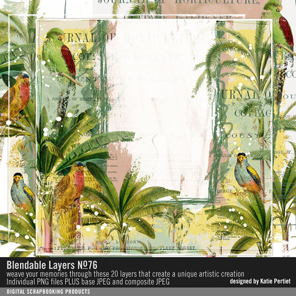 Blendable Layers 76 Digital Art - Digital Scrapbooking Kits
