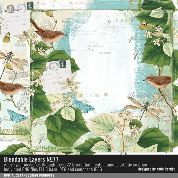 Blendable Layers 77 Digital Art - Digital Scrapbooking Kits