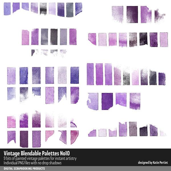 Vintage Blendable Palettes 10 Digital Art - Digital Scrapbooking Kits
