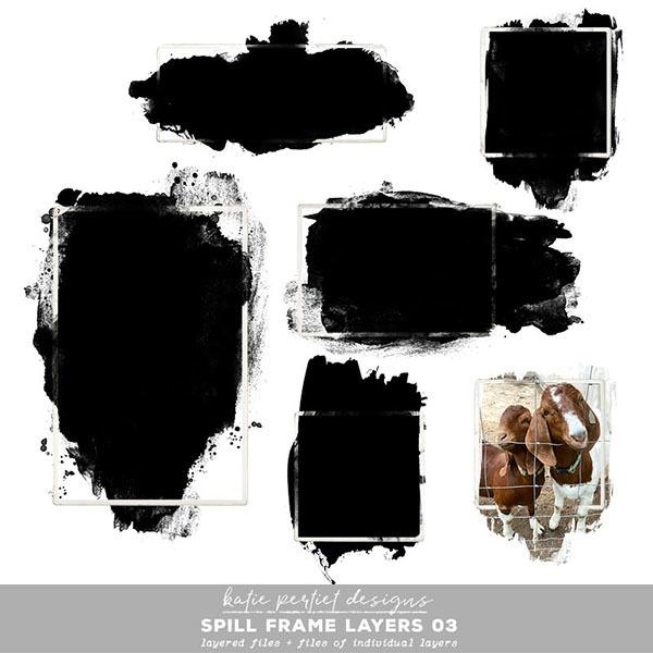Spill Frame Layers 03 Digital Art - Digital Scrapbooking Kits