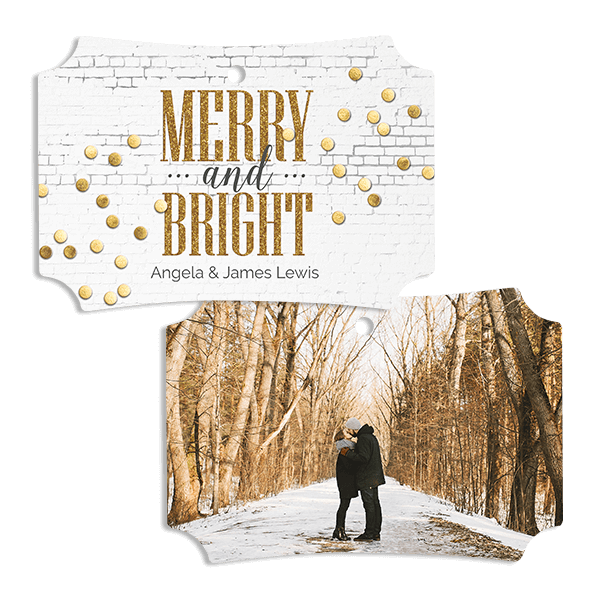 Merry Gold Confetti Ornament