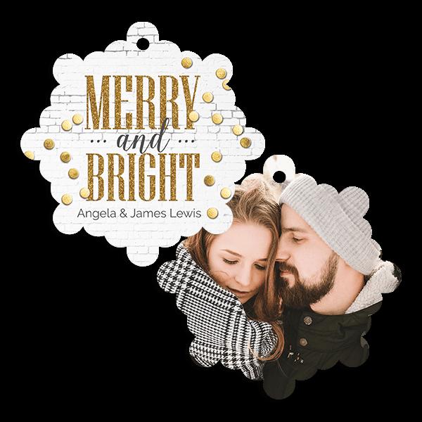 Merry Gold Confetti Ornament
