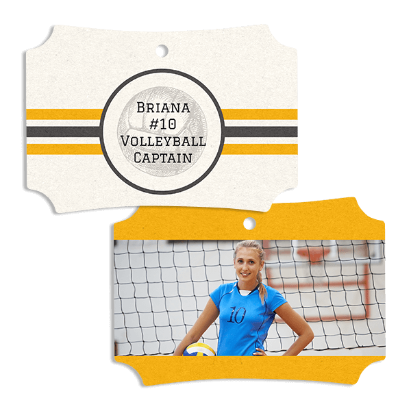 Volleyball Stripes Ornament
