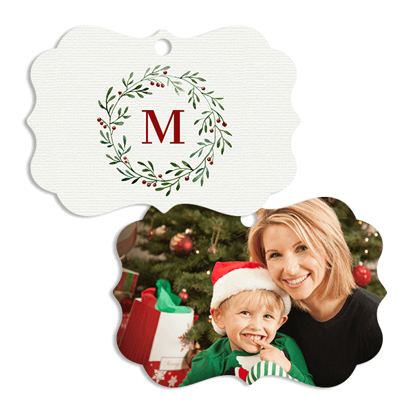 Holiday Monogram Ornament Ornament