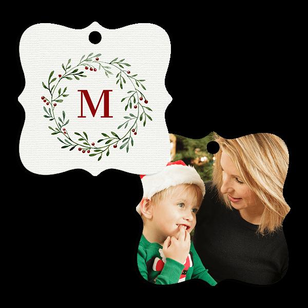 Holiday Monogram Ornament