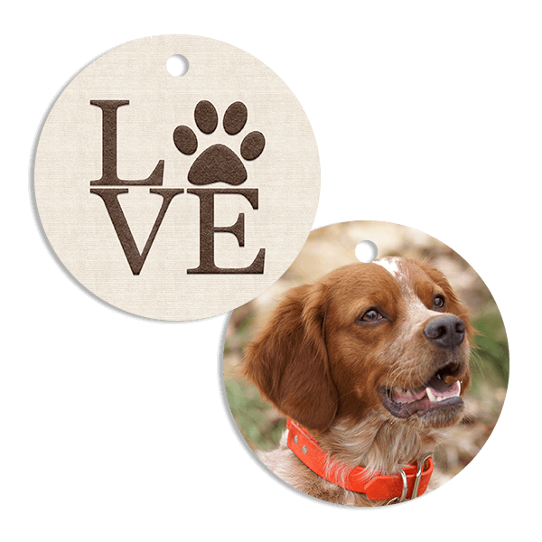 Paw Print Love Ornament