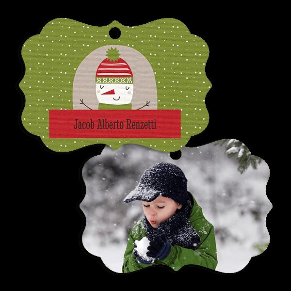 Green Snowman Ornament Ornament