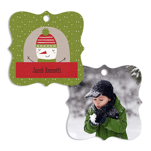 Green Snowman Ornament