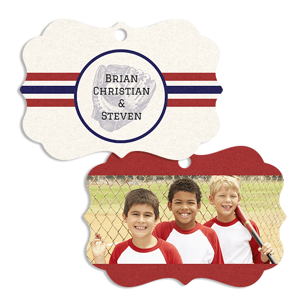 Baseball Stripes Ornament Ornament