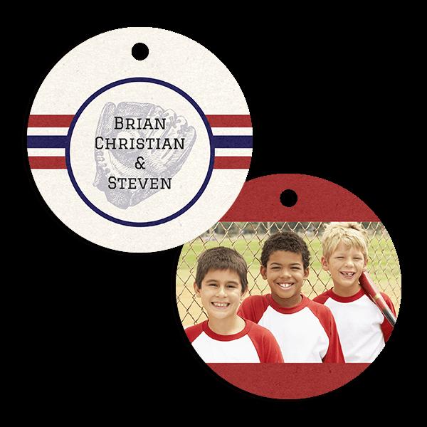Baseball Stripes Ornament