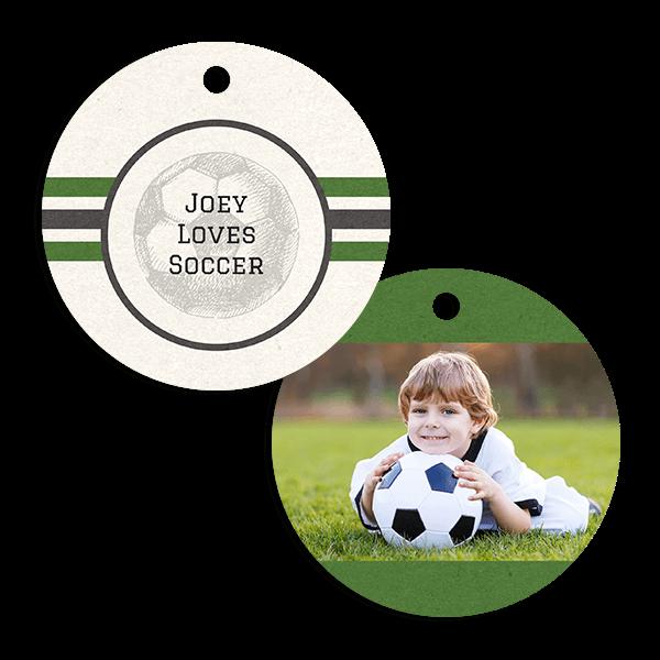 Soccer Stripes Ornament