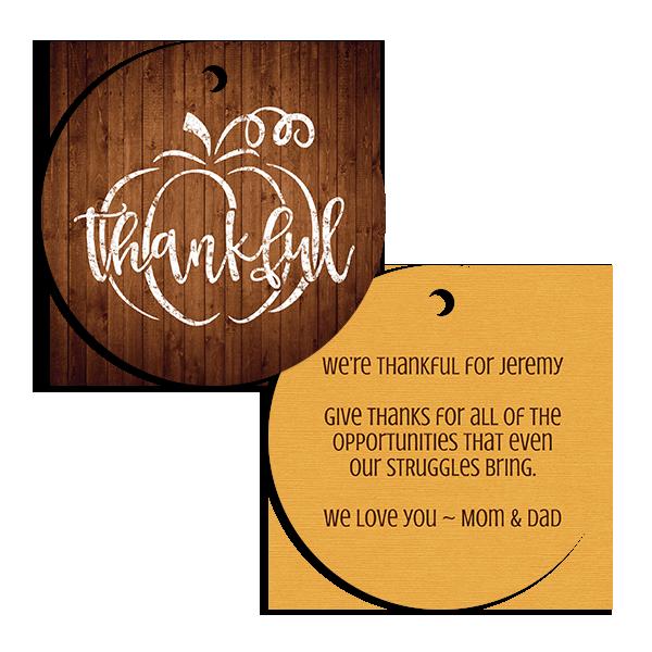 Thankful Pumpkin Ornament