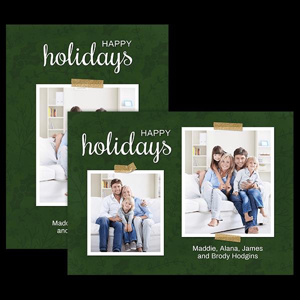 Festive Holly Card Card