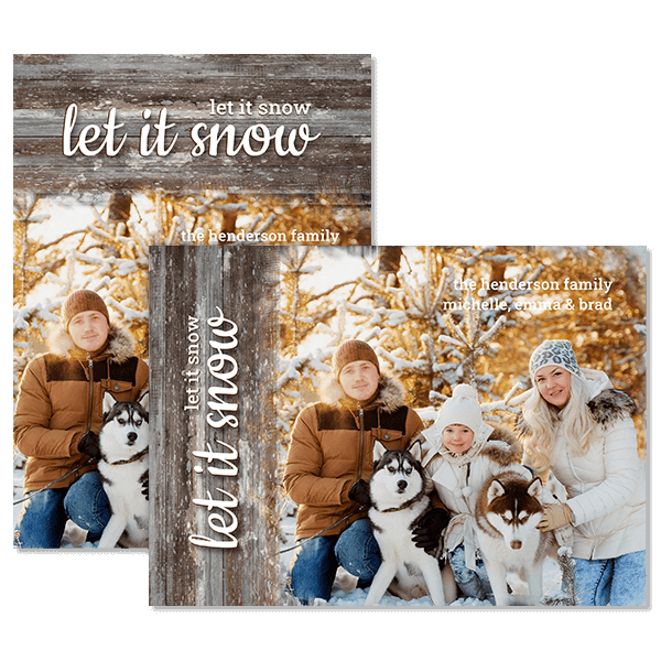 Let It Snow Card Card