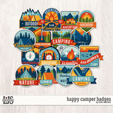 Happy Camper Badges