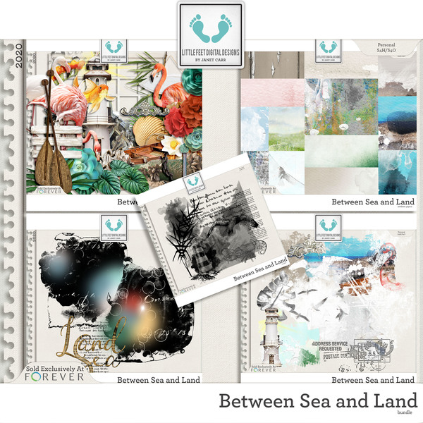 Between Sea and Land Bundle Digital Art - Digital Scrapbooking Kits