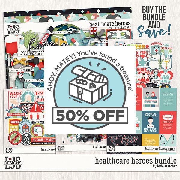 Healthcare Heroes Bundle Digital Art - Digital Scrapbooking Kits