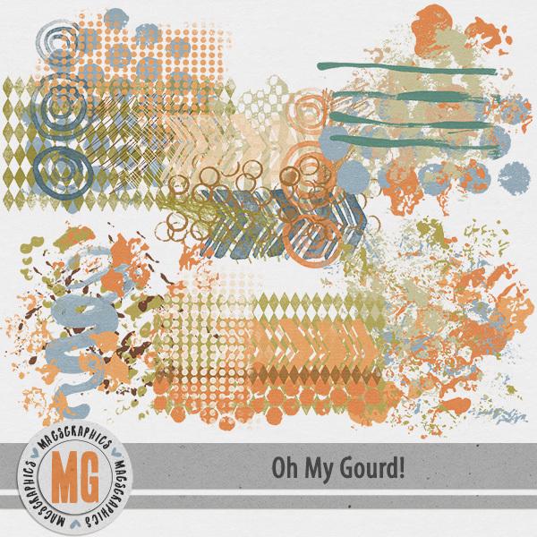 Oh My Gourd Hodge Podge Digital Art - Digital Scrapbooking Kits
