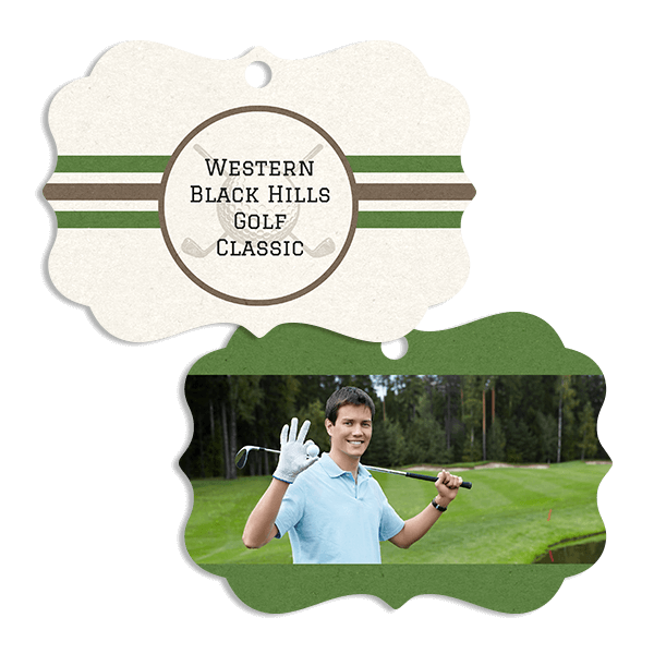 Golf Stripes Ornament
