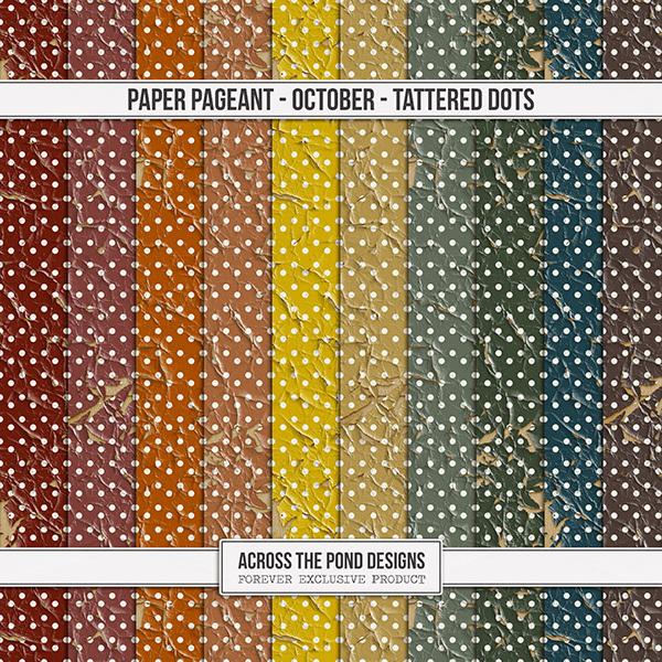 Paper Pageant - October - Tattered Dots Digital Art - Digital Scrapbooking Kits