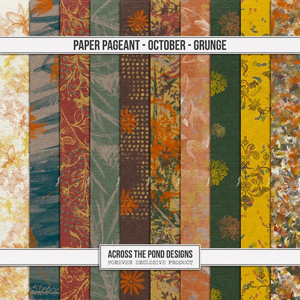 Paper Pageant - October - Grunge Digital Art - Digital Scrapbooking Kits