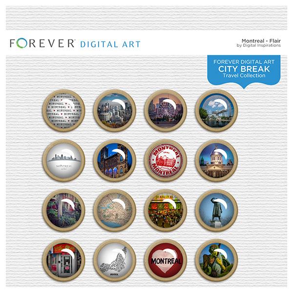 City Break - Montreal - Flair Digital Art - Digital Scrapbooking Kits