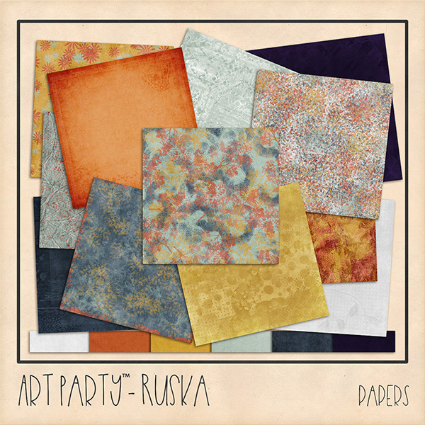 Ruska Papers Digital Art - Digital Scrapbooking Kits