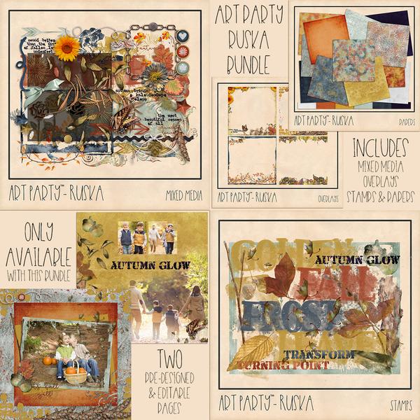 Ruska Complete Collection Digital Art - Digital Scrapbooking Kits
