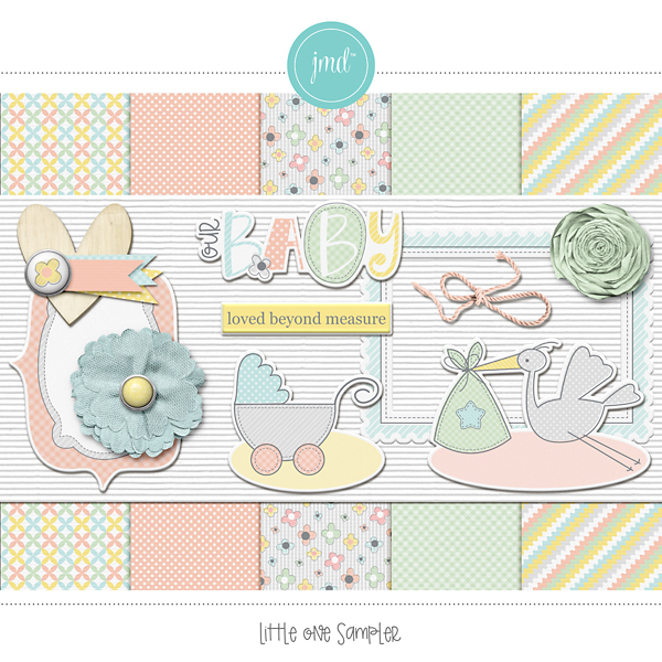 Little One Sampler Digital Art - Digital Scrapbooking Kits