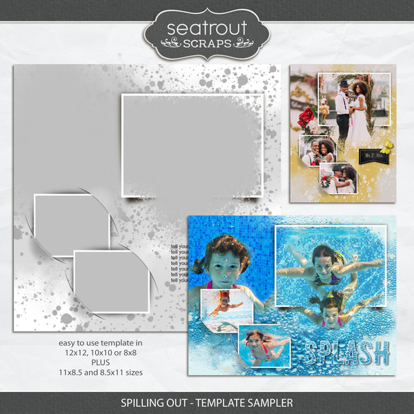 Spilling Out - Template Sampler Digital Art - Digital Scrapbooking Kits